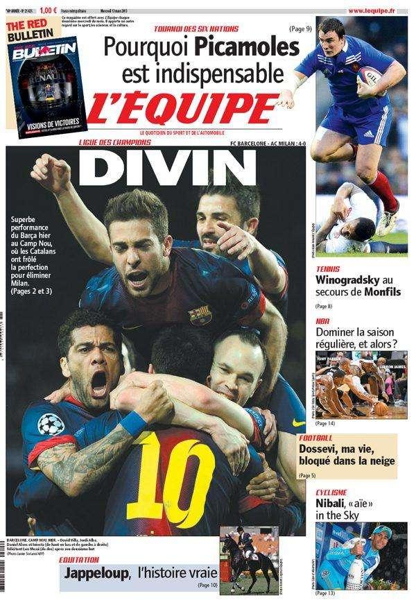 L'Equipe Mercredi 13 Mars 2013