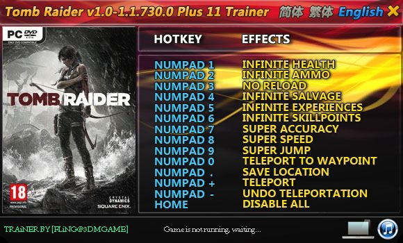 TOMB RAIDER 1.0.716.5-1.1.730.0 +11 TRAINER [FLING]