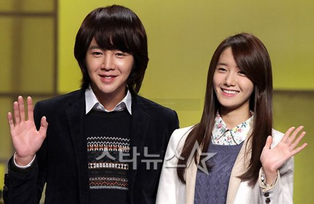 "Jang Geun Suk, Yoon Ah, And Other Cast Members At ""Love Rain"